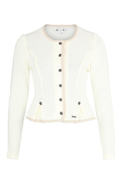 Strickjacke creme